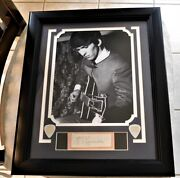 Beatles George Harrison 1963 Framed Autograph Perry Cox Loa Signed Beautiful