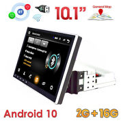 Single 1 Din 10.1 Retractable Screen Android 10 Car Stereo Radio Gps Wifi Bt