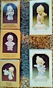 Lot Of 5 - Precious Moments Figurines - New Open Box. Jesus Loves Me Etc