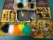 Antique Flies Salmon Trout Fly Fishing Flies And Lures In Old Tins