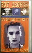 Boy George Have You Seen This Boy Rare Limited Edition Promo Vhs Video 5-pack