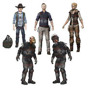 Amc The Walking Dead Series 4 Governor Carl Andrea Riot Zombie 5 Mcfarlane Set