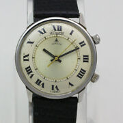 Lecoultre Memovox K910 Ref 2677 34.5mm Stainless Steel Manual Wristwatch Ca.1960