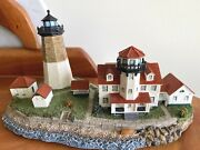 Harbor Lights Lighthouse 223 Point Judith, Ri - Created By Bill Younger - Rare