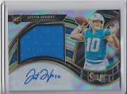 2020 Panini Select Rookie Patch Auto Rpa Prizm Silver Justin Herbert 2/49