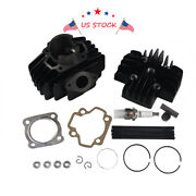 New Big Bore Top End Cylinder Piston Gasket Kit 60cc For 79-87 Yamaha Qt50 Pw50