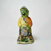 Fenton Glass Halloween Witch Hand Painted Limited Edtion Signed