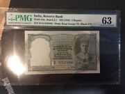Reserve Bank Of India, 5 Rupees, 1943, Grade 63