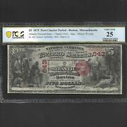 Fr 402 5 1875 Columbus Note 1st Charter Boston Massachusetts Pcgs 25 Ships Free