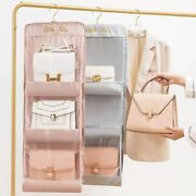 Hanging Bag Organizer Double Sided Closet Storage Three Dimensional Type Covers