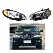 Headlight Assembly For Bmw X6 E71 2008-2015 Full Led Beam Projector Led Drl