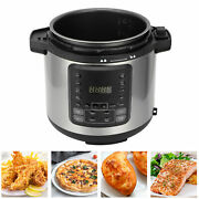6l 1000w Preesure Cooker Electric 1500w Hot Air Fryer Oil Less Led Touch Screen