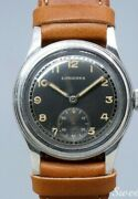 1940s Antique Longines Analog Watch Manual Cal.23m Black Two-tone 31mm Dial