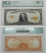 Ec187 1922 10 Gold Certificate Note Pcgs About New 53 Fr. 1173 K29137231