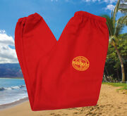 Vintage Ocean Safety Small Red City County Honolulu Hawaii Lifeguard Sweatpants
