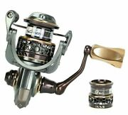 Fishing Spinning Bass Reel Long Casting Double Spool Stainless Steel Bearing New