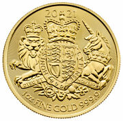 2021 Great Britain Royal Arms 1 Oz Gold Andpound100 Coin Gem Bu