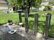 """The Asht+ Stainless Steel Chimney Set, [6"""" Dia X 48 """" L.] By Security Chimneys"""