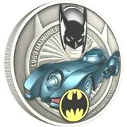 Ships Free 1989 Batmobile Collectible Coin 1 Oz Silver Proof Ships Now New