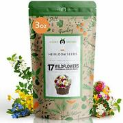 Flower Seed Pack [17 Variety] - Perennial Flower Seeds For Attracting Birds