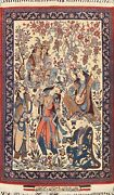 900 Knots Antique Vegetable Dye Najafabad Pictorial Area Rug Hand-knotted 2and039x3and039