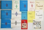 Heiseyand039s Glassware Lot Of 8 Catalog Booklet + 6 Price Guides No 109 75 212 17 32