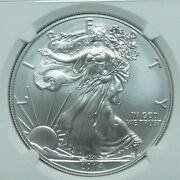 2014 W Burnished 1 American Eagle Silver Dollar Ngc Ms70 .