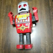 Yonezawa Mechanical Mighty Robot Tin Plate Toy Antique Vintage Rare As-is Item