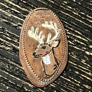 Hand Painted White Tailed Deer Pressed Smashed Elongated Penny B1445