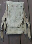 Original Ww1 Wwi Us Army Military Aef Haversack Backpack 1918 Dated