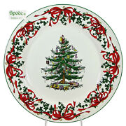 Spode Christmas Tree Red Ribbon 12 Buffet Plate 2007 Annual Collectors S3324-a7