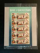 Us 5401-5404 State And County Fairs Pane 20 Stamps Usps Sealedfree Shipping