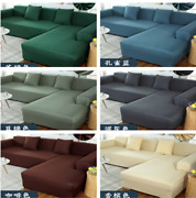 1-4 Seater Couch Fitted Sofa Covers Stretch Soild Slipcover Furniture Protector