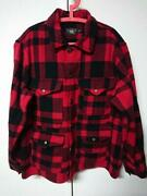 Rrl Buffalo Check Hunting Jacket Size L Mens Used Double Rl