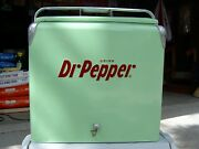 Dr Pepper Vintage 1950and039s All Metal Picnic A1 Cooler Classic