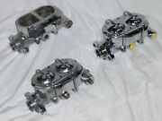 Lot Of 3 Chrome Street Rod Master Cylinders Universal 9/16 1/2 For Parts Repair