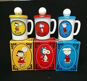 Lot 3 Vintage Avon Milk Glass Bottles Snoopy Lucy Charlie Brown 1969 Label Boxes