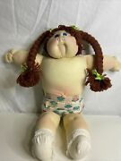 Vintage 1978 Cabbage Patch Kids Soft Sculpture Girl Red Hair Blue Eye Plush Doll
