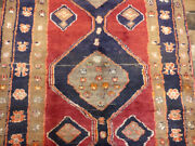 3and0396x8and0396 Authentic Vintage Unique Hand Knotted Wool Oriental Antique Rug Runner
