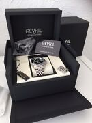Gevril Limited Edition Automatic Swiss Watch Ceramic Bezel Jubilee Submariner