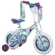Huffy Frozen 2 Kid Bike Training Wheels Streamers And Basket Included 12 Inch Blue