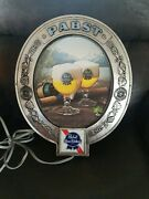 Vtg 1970s Pabst Beer Outdoor Fishing Poles And Lures Light Up Bar Sign Pbr