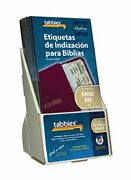 Tabbies 20 Pack With Display Gold-edged Spanish Bible Indexing Tabs Old And New...