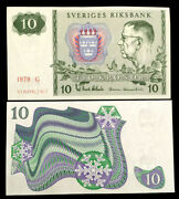Sweden 10 Kronor 1988 Banknote World Paper Money Unc Currency Bill Note