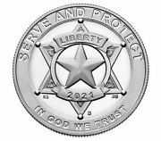 2021 National Law Enforcement Memorial And Museum Proof And Unc.clad Half Dollar
