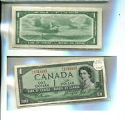 Canada 1954 1 Devils Head Currency Note P/a Series Au 3305p
