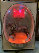 """Budweiser Clydesdale Horse Bubble Dome Lights Works Perfectly 15""""x20""""x7"""" Deep"""