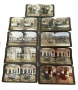 Lot Of 9 Antique H. C. White Stereograph Cards Slide | Copyright 1901 | Usa Made