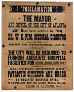 Original Prop Poster Made For Gone With The Wind 1939 - Atlanta Siege Sequence