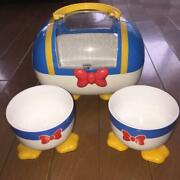 Tokyo Disneysea Donald Duck Boat Builder Lunch Box And Pottery Cup 2 Pieces Set